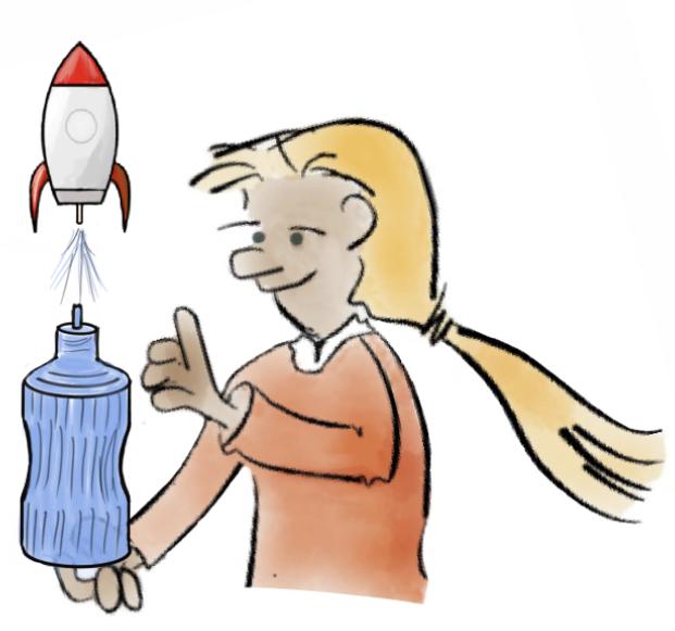 Wie fliegt eine Rakete